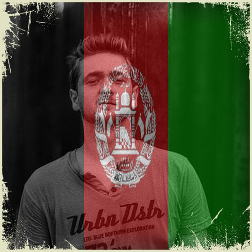 Afghanistan Flag On Face Maker : Photo Editor
