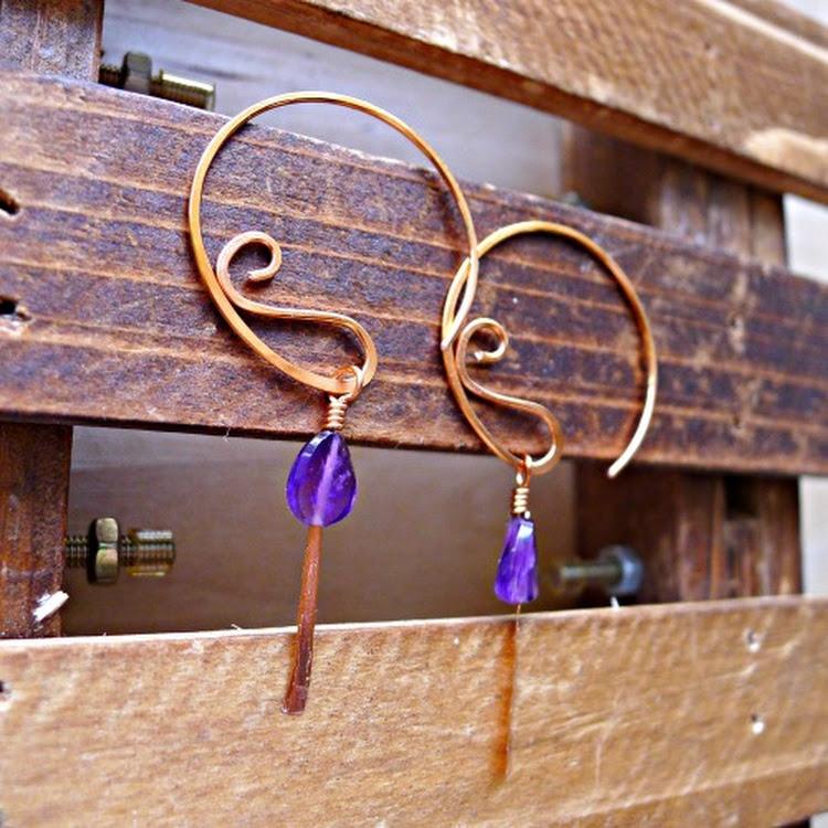 (NEW) Detachable Amethyst Earrings by Heavenly Gems