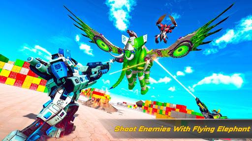 Flying Elephant Robot Transform: Flying Robot War 1.1.1 Screenshots 7