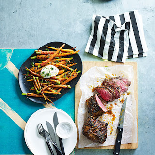 Coriander And Chipotle Lamb Rump With Burnt Carrots