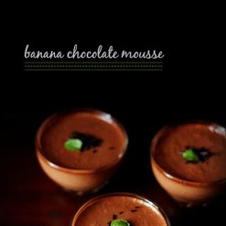 Eggless Banana Chocolate Mousse.