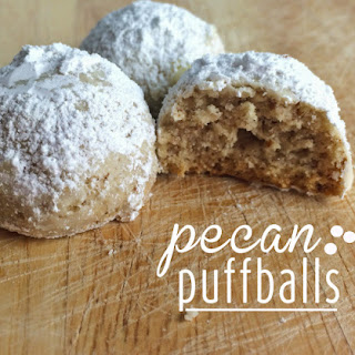 Pecan Puffball Cookies