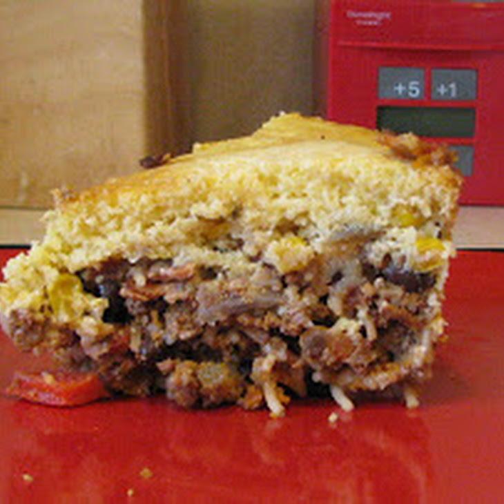 Cornbread Topped Hamburger Casserole Recipe