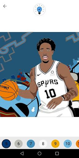 Coloring Basketball screenshot 1