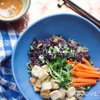 Soba Noodle Maple Tofu Salad Bowl