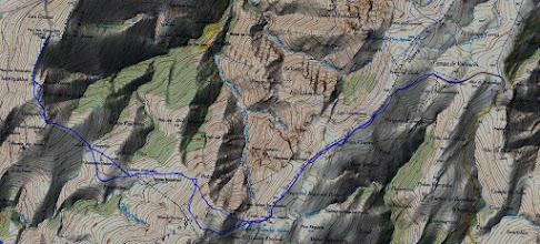 Photo: Ruta al Carondio y Gargalois desde el Alto Bustantigo  1028 m