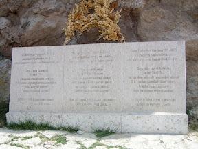 Мыс Калиакра. Мемориальная плита в память о сражении при Калиакрии