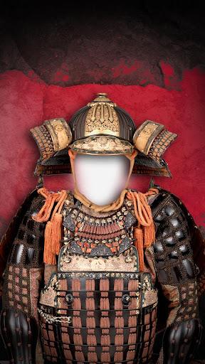 武士鎧甲照片蒙太奇
