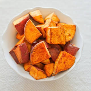 Coconut Oil Roasted Sweet Potatoes.