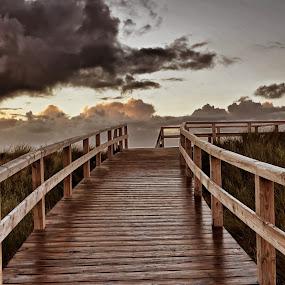 Bridge!                    by Olaf Pohling - Instagram & Mobile Other ( sea, woodbridge, bridge, beach, view, sylt )