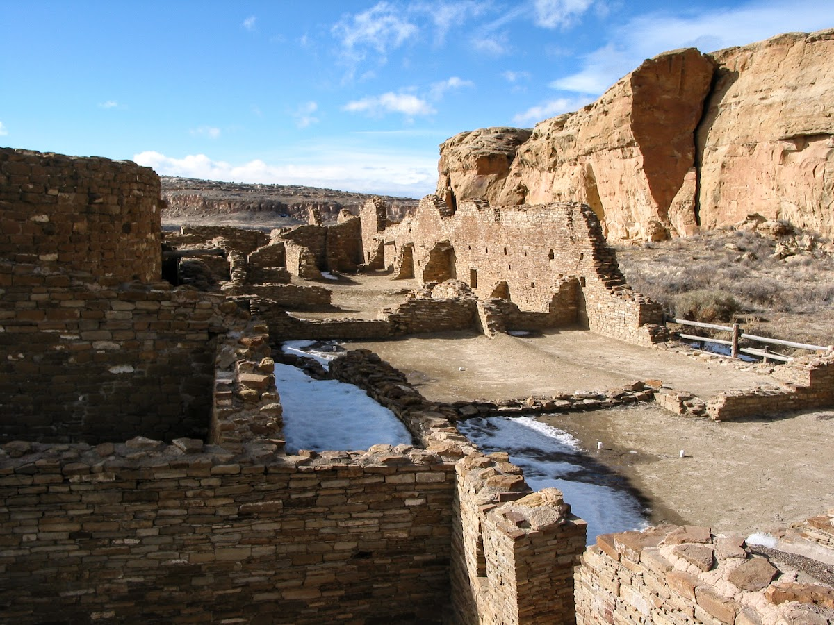 Ruins in Chaco Canyon National Park