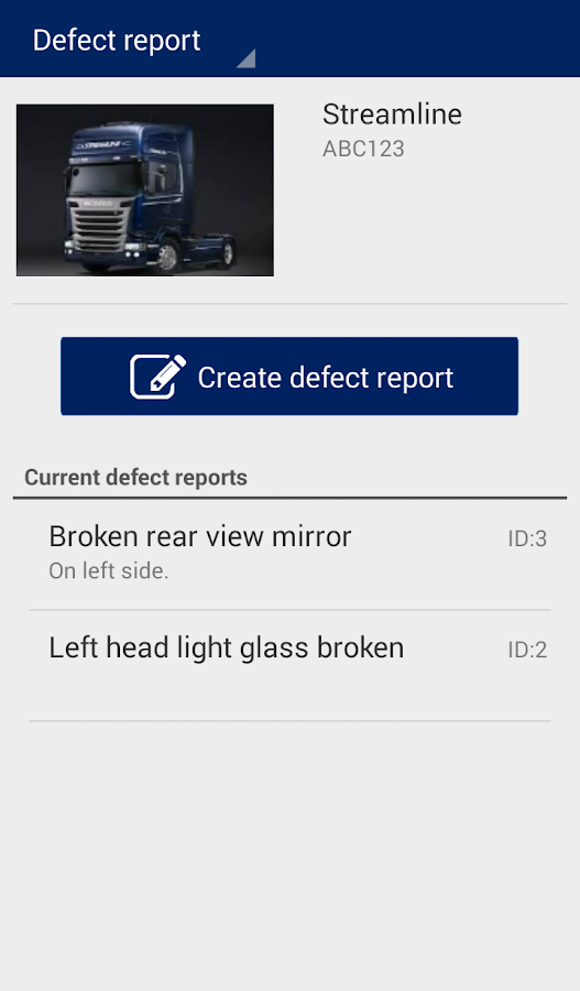Scania Fleet Management- screenshot
