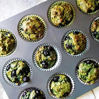 Antioxidant-packed Matcha Blueberry Muffins (GF).