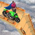 Superhero mega ramp gt bike racing 2021 icon