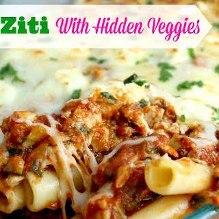 Baked Ziti With Hidden Veggies.