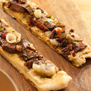 Beef Fillet & Sun Dried Tomato Grilled Flatbread