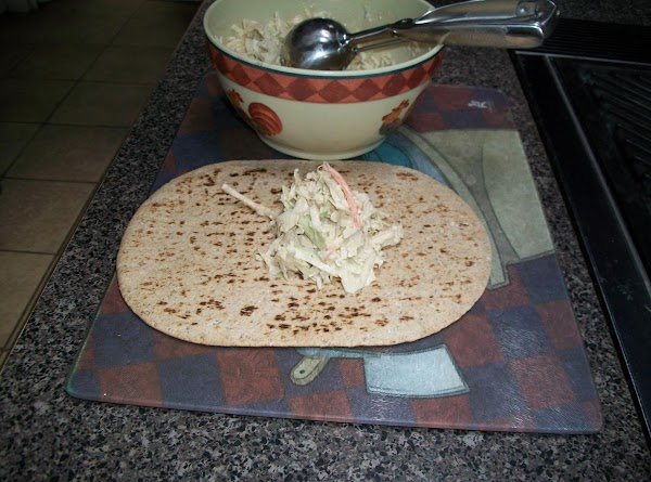 put coleslaw mix in bowl.In a small bowl place mayonaise, balsamic vinegar and sweet...