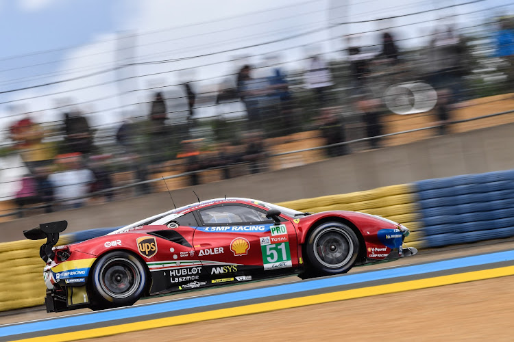 Ferrari's 488 (pictured) has been successful in the GTE Pro class but the Italian marque now plans a long-awaited return to the top tier of Le Mans racing. Picture: REUTERS