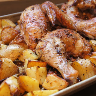 Baked Lemon Chicken With Potatoes Recipes.