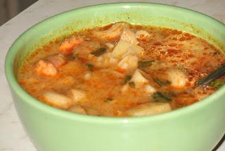 Photo: Zupa z kiełbasy, ale bez jajek w koszulkach :) 40