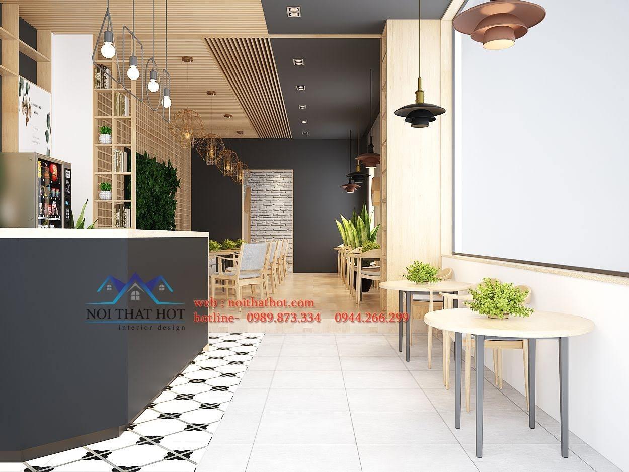 thiết kế quán trà sữa Samcha 2