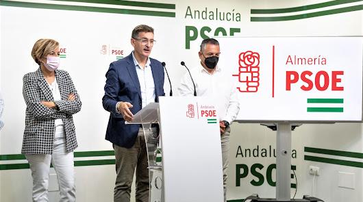 Rueda de prensa en la sede del PSOE.