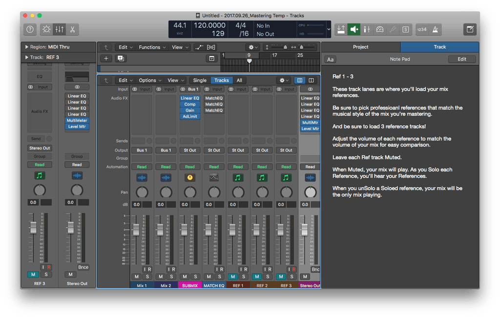 Download the Free Logic Pro X Mastering Template