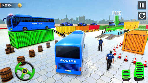 Police Bus Parking Game 3D - Police Bus Games 2019 screenshots 1