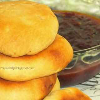 Baked Peas Kachori #Breadbakers.