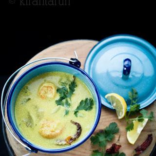 Summer Squash & Shrimp Coconut Curry.