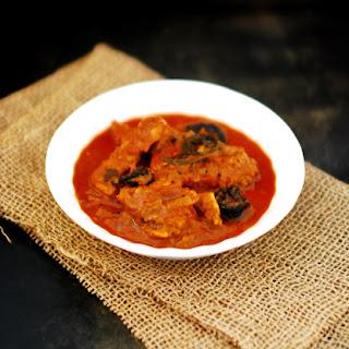 Meen Vevichathu (Fish Curry,Kottayam Style).
