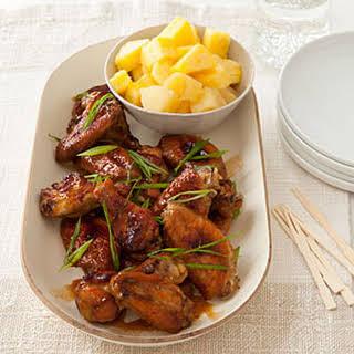 Pineapple-Soy Chicken Wings.