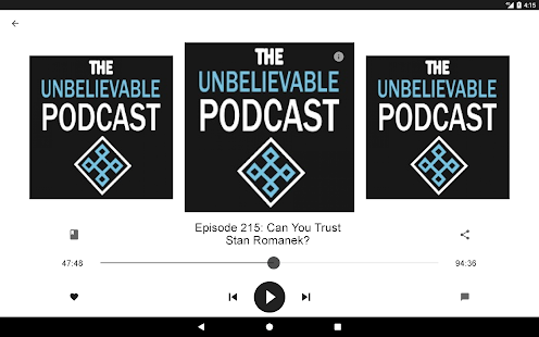 The Unbelievable Podcast- screenshot thumbnail
