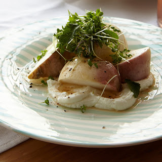 Salt-Roasted Turnips with Goat Cheese and Greens