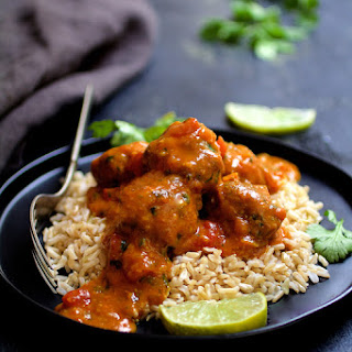 Meatballs in Spicy Curry.