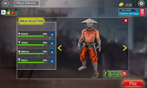 Code Triche ninja kungfu chevalier bataille d'ombre samouraï mod apk screenshots 3