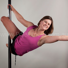 Photo: Vertical Pole Gymnastics - One Handed Parallel to the Floor