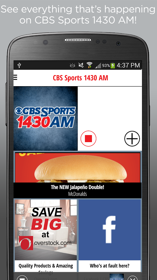 CBS Sports 1430- screenshot