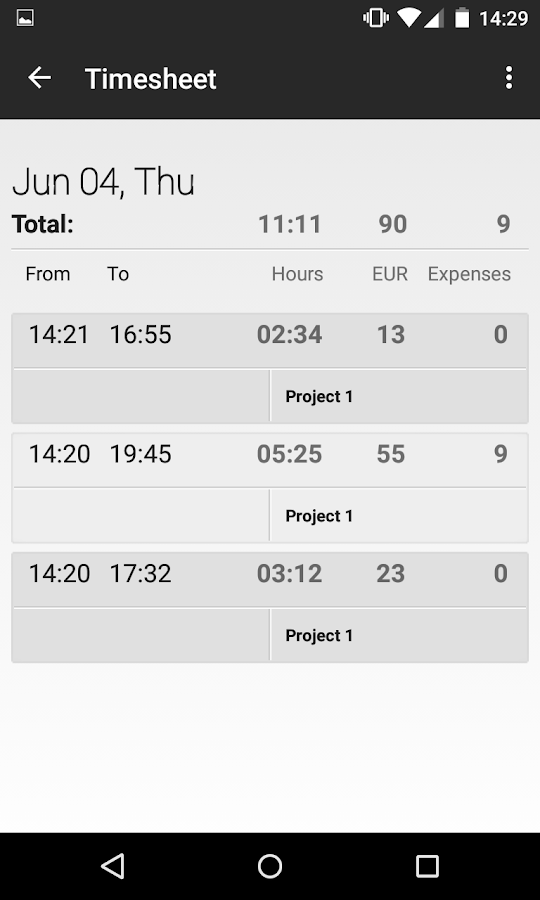 Time tracker - Mobile Worker- screenshot