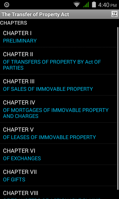 Transfer of Property Act- screenshot