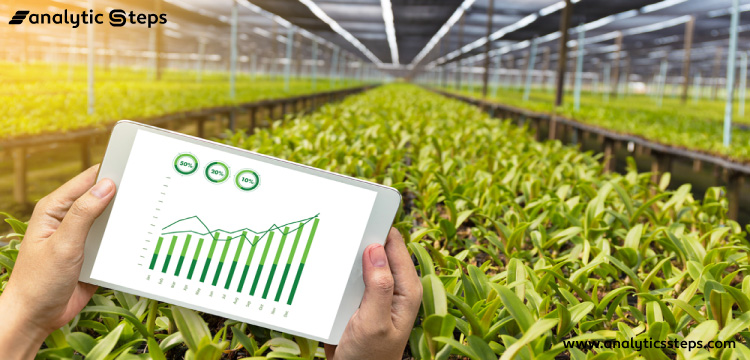 This image shows the use of IoT for climate monitoring to protect crops.