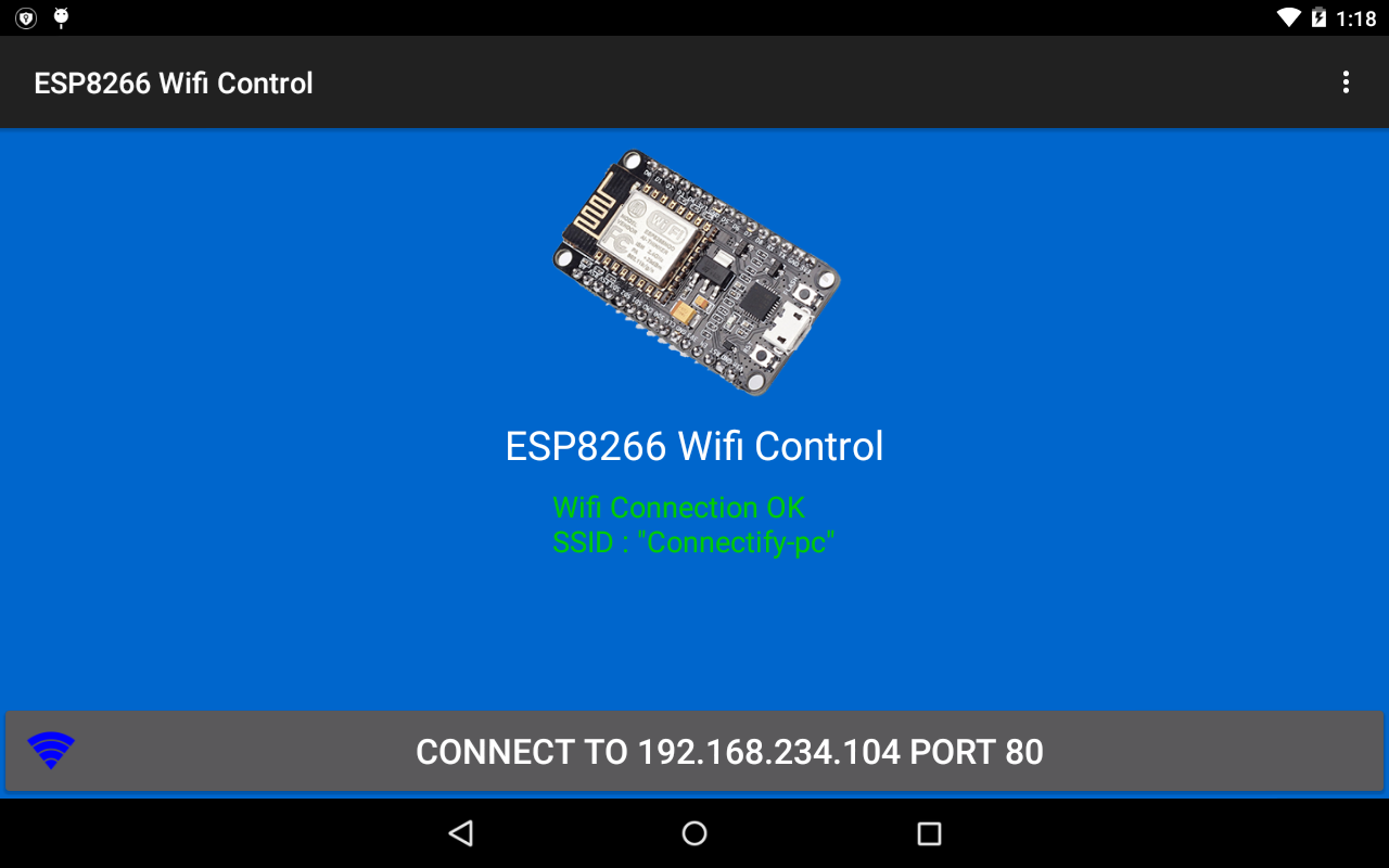 ESP8266 WiFi Control Device- screenshot