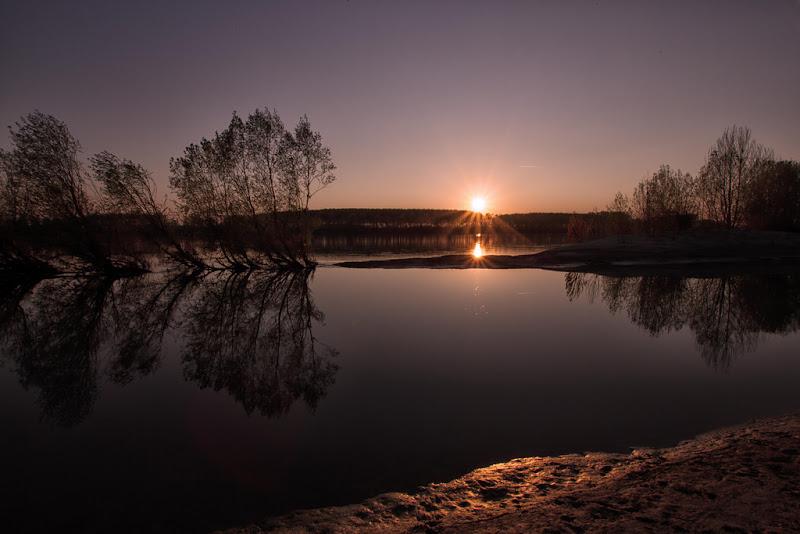 tramonto sul po di antonioromei