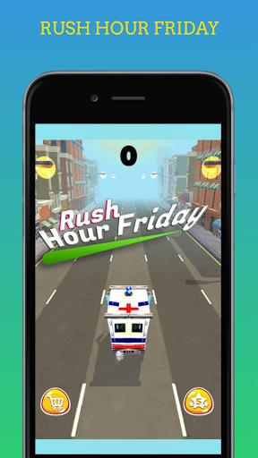 Code Triche Rush Hour Friday - Jeu de Course de Voiture mod apk screenshots 1