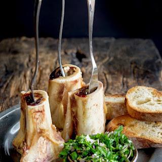 Roasted Bone Marrow and Parsley Salad