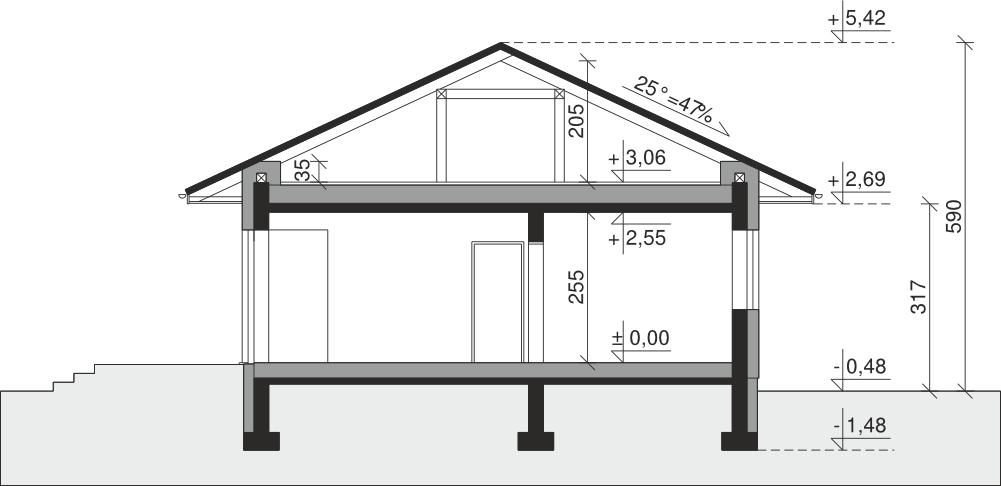 Projekt Domu Dom Przy Pastelowej 16 D Tju 716 90 0m