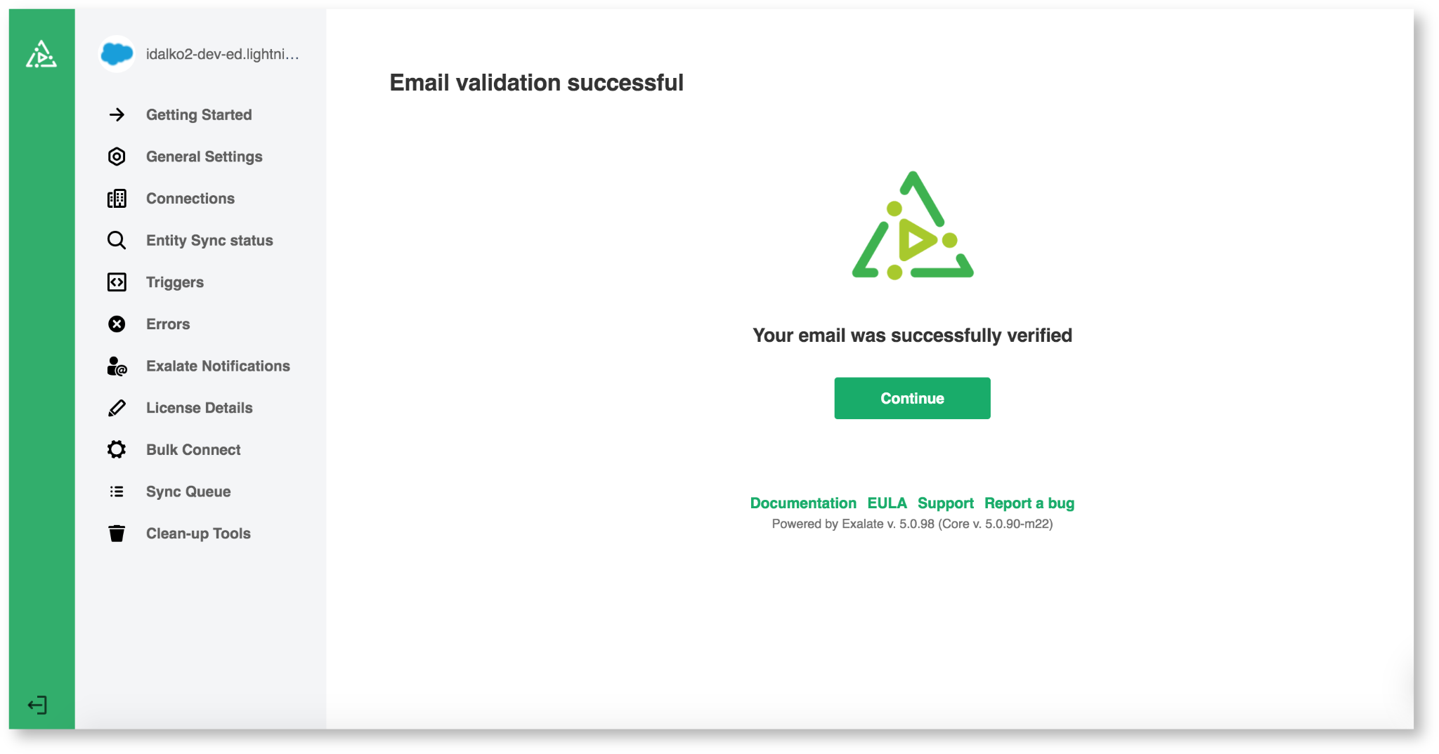 exalate email validation