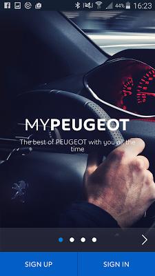 MYPEUGEOT APP - screenshot