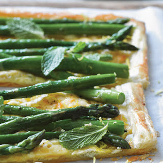 Roasted Asparagus And Cheese Tart