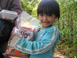 Photo: Gratefully received. Near Sankamphaeng